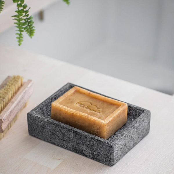 Rustic Soap Dish - Natural Granite at the Farthing