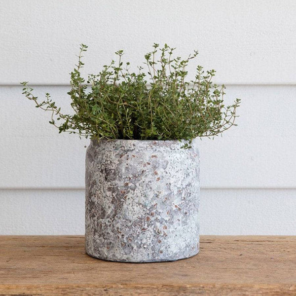 Rustic Speckled Glaze Plant Pot - The Farthing  - 1