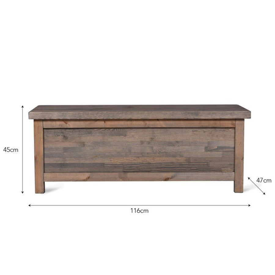 Rustic Spruce Storage Bench - The Farthing
