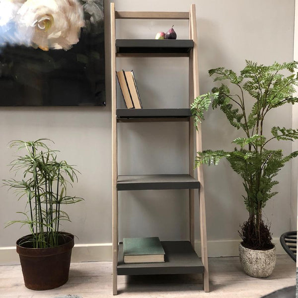 Rustic Tall Grey Topped Shelf Unit | Farthing