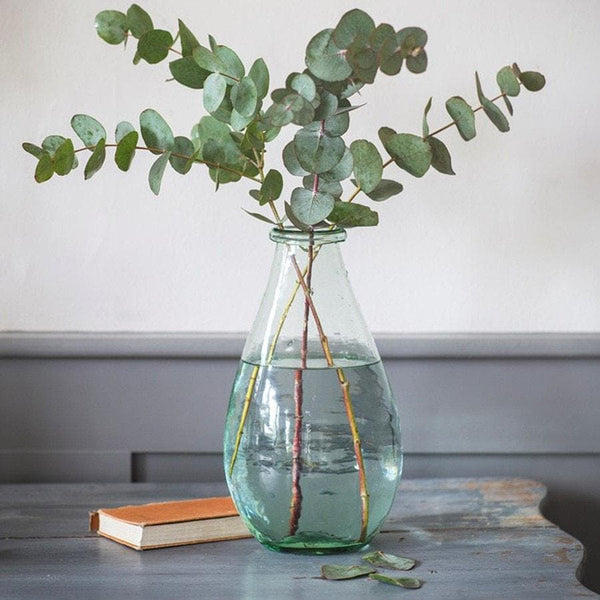 Rustic Teardrop Recycled Glass Vase - Extra Large - The Farthing  - 1