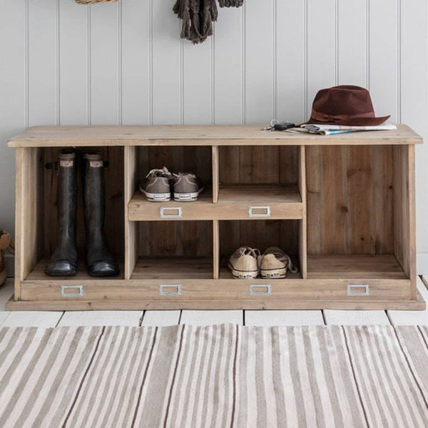 Rustic Welly & Shoe Box Unit - The Farthing  - 1