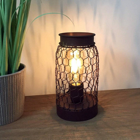 Rustic industrial wire cage table lamp silas bulb lamp lighting rustic wire cage table lamp the farthing greentooth Choice Image