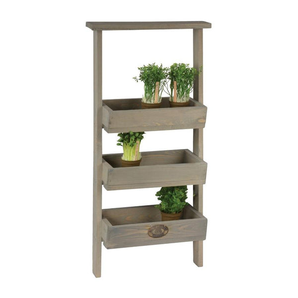 Rustic Wooden Lean To Plant Pot Ladder at the Farthing