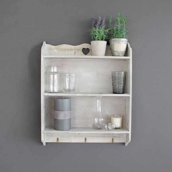 Rustic Wooden Shelves - Period Grey - The Farthing