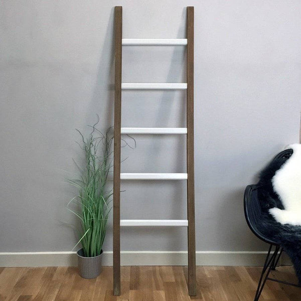 Rustic Wooden Towel Ladder -  Clay - The Farthing