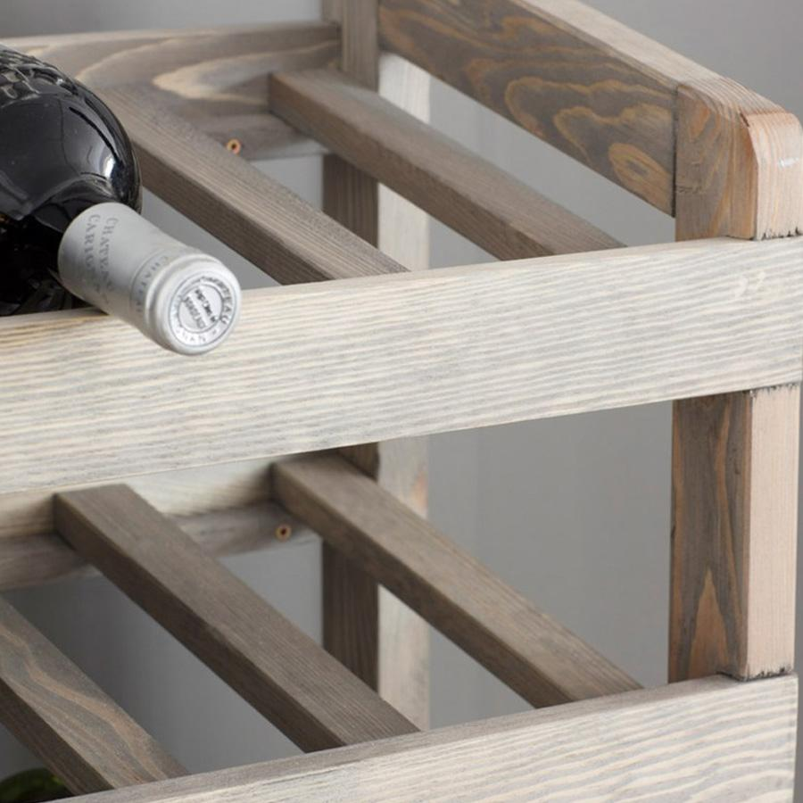 Rustic Wooden Wine Rack | The Farthing