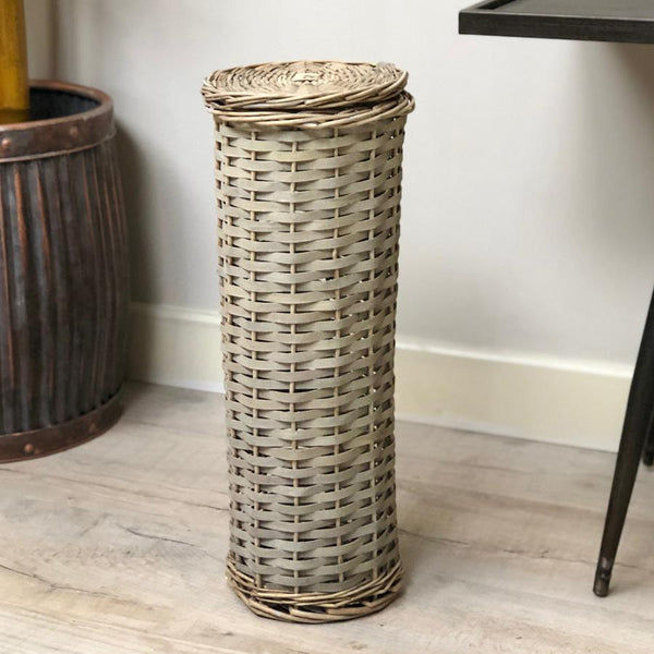 Rustic Woven Toilet Roll Storage | Farthing 5