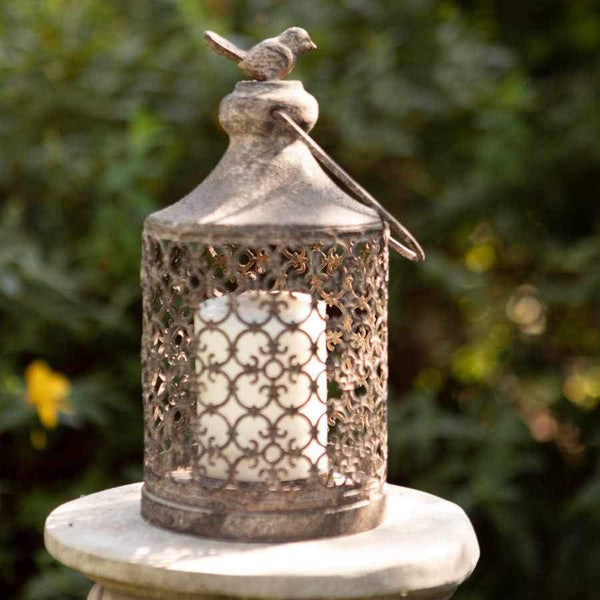 Rustic Filigree Candle Lantern at the farthing
