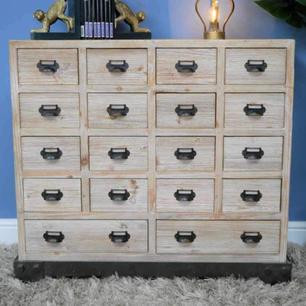 Rustic Wooden Branscombe Multi Drawer Cabinet