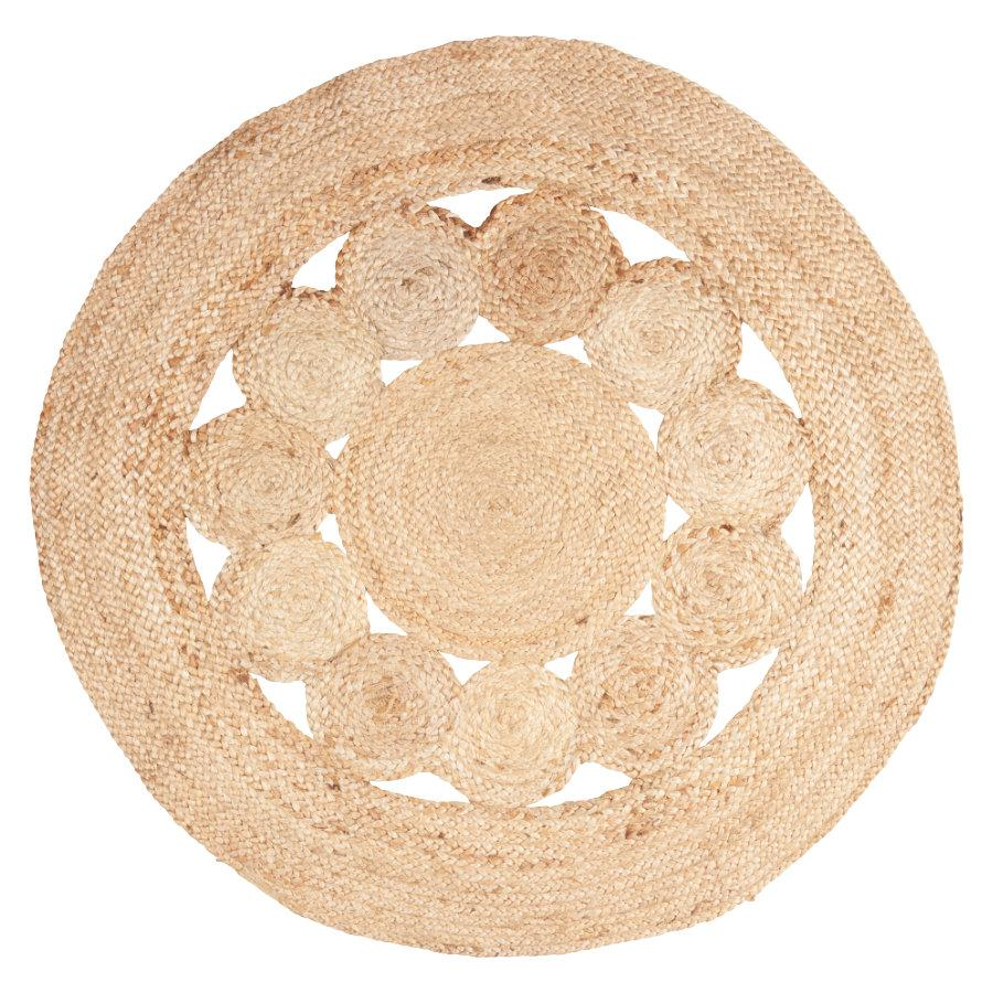 Rustic Braided Round Jute Rug at the Farthing