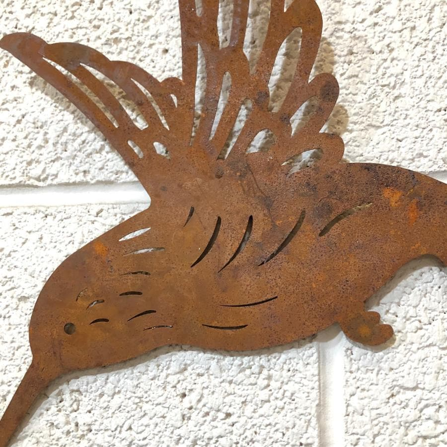 Rustic Metal Hummingbird Wall Art at the Farthing