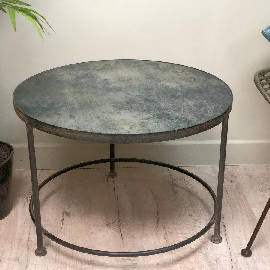 - Rustic Metal Shades Coffee Table Westchester Side Tables - The