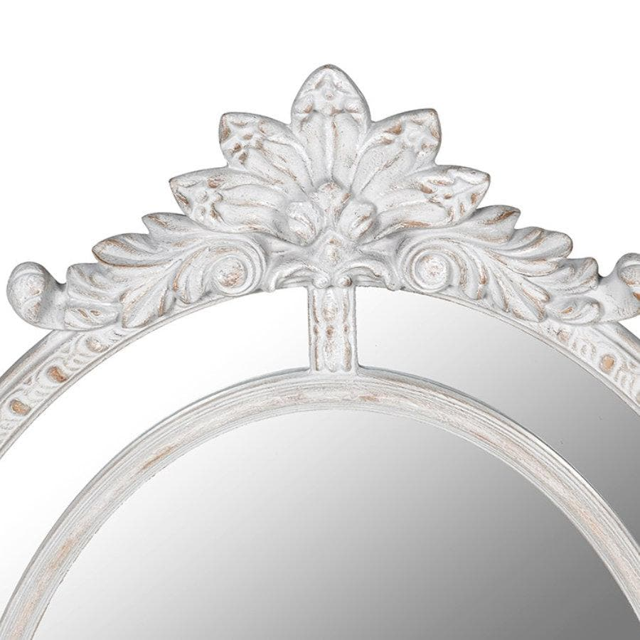 Rustic Oval Parisian Wall Mirror at the Farthing