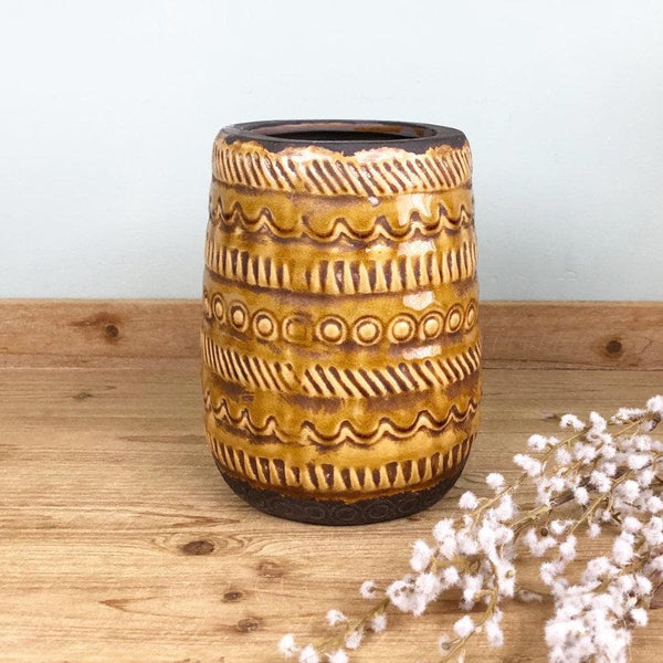 Rustic Patterned Vase at the Farthing 1