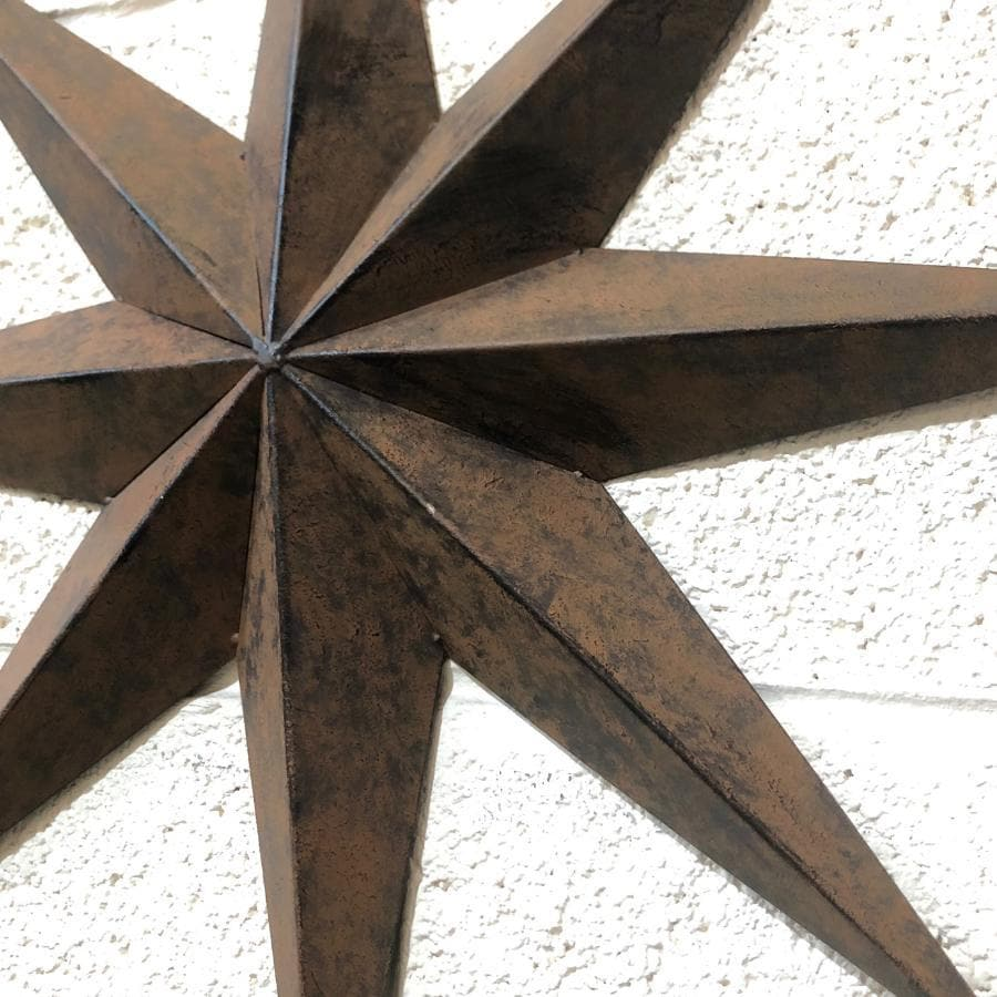 Rustic Round Metal Compass Garden Wall Art | Farthing