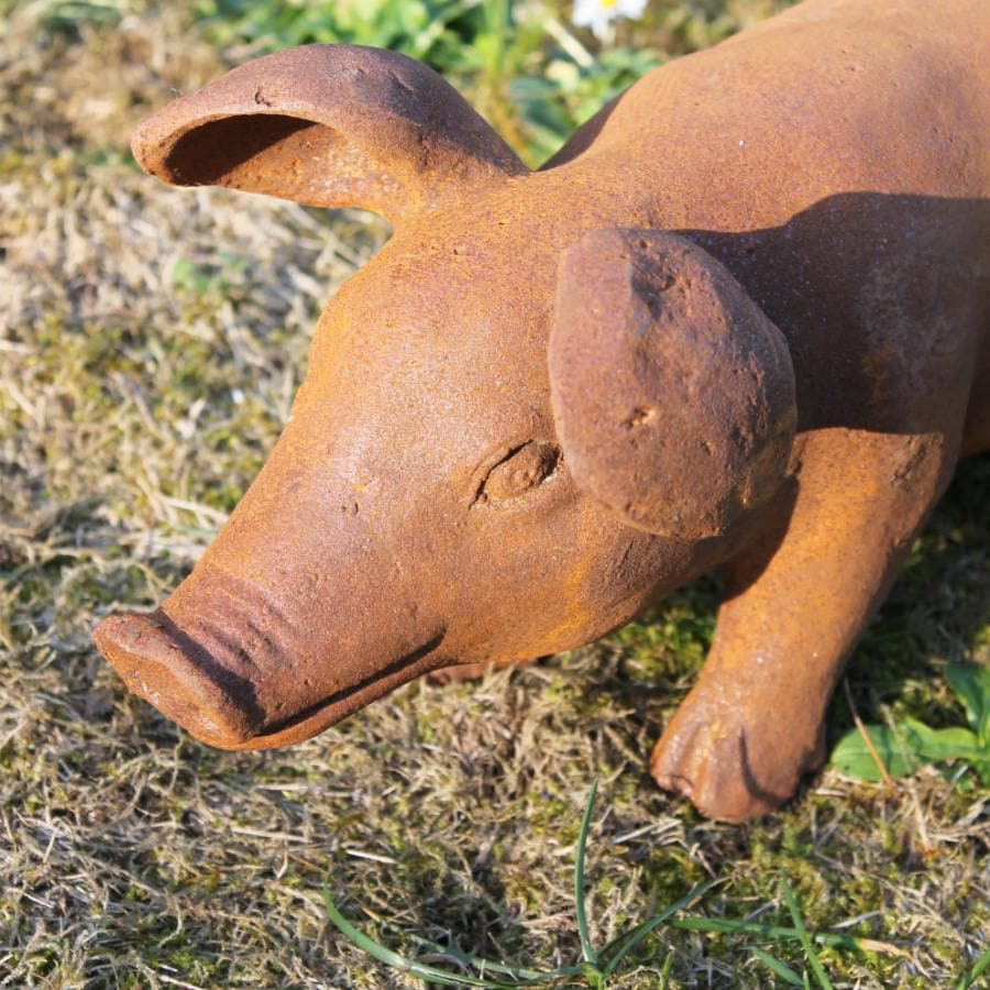 Rustic Rusty Pig - Large | The Farthing