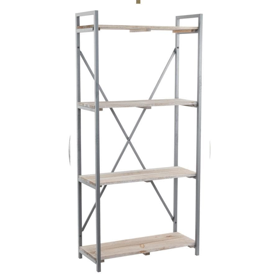Rustic Tall Metal Shelf Unit