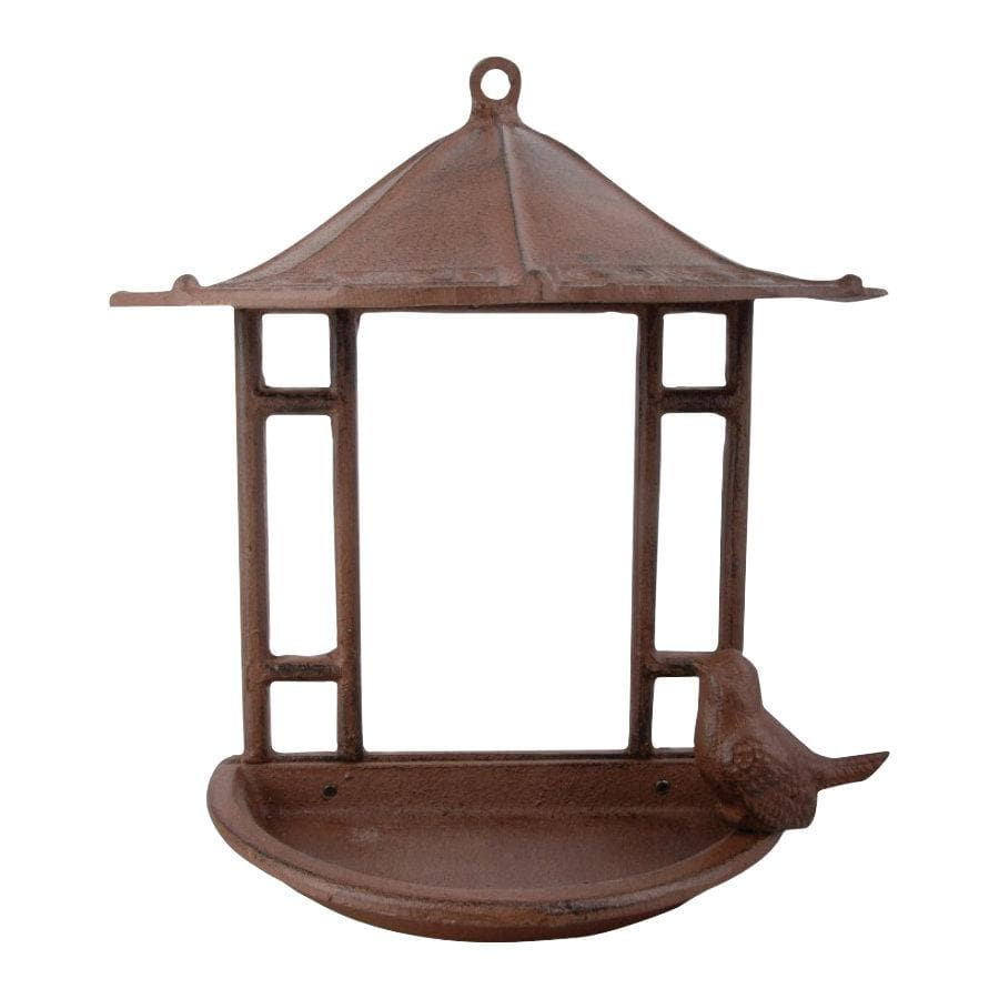 Rustic Wall Mounted Bird Feeder at the Farthing