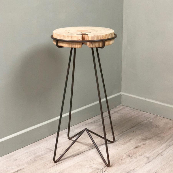 Rustic Wood And Iron Bar Stool at the Farthing 3