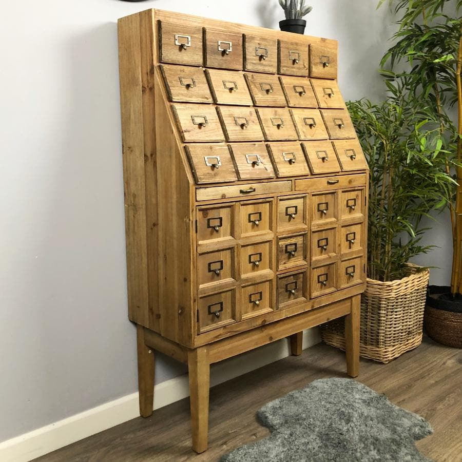 Rustic Wooden Apothecary Cabinet at the Farthing