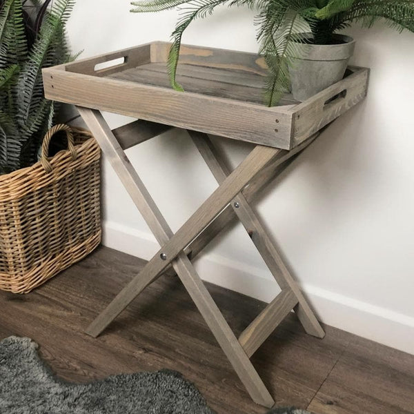 Rustic Wooden Butlers Tray Table | The Farthing