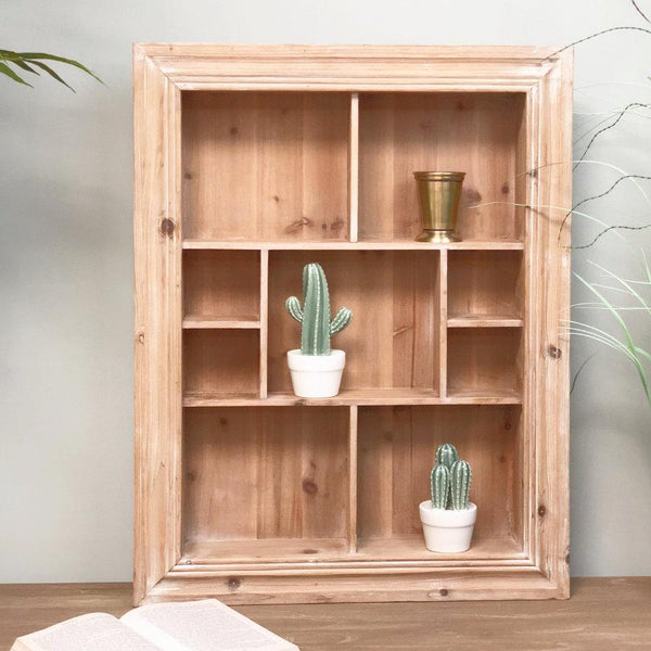 Rustic Wooden Storage Wall Unit | The Farthing 1