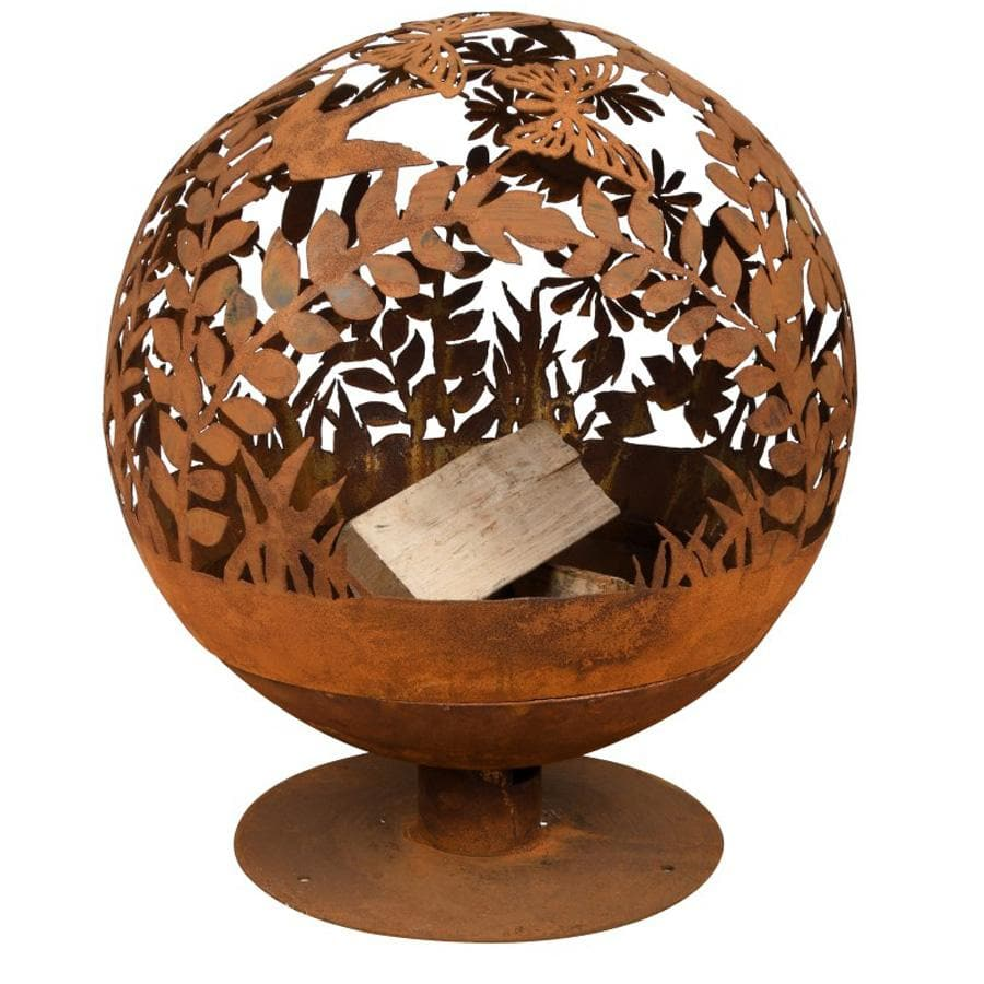 Rusty Red Hedgerow Fire Bowl Globe | Farthing