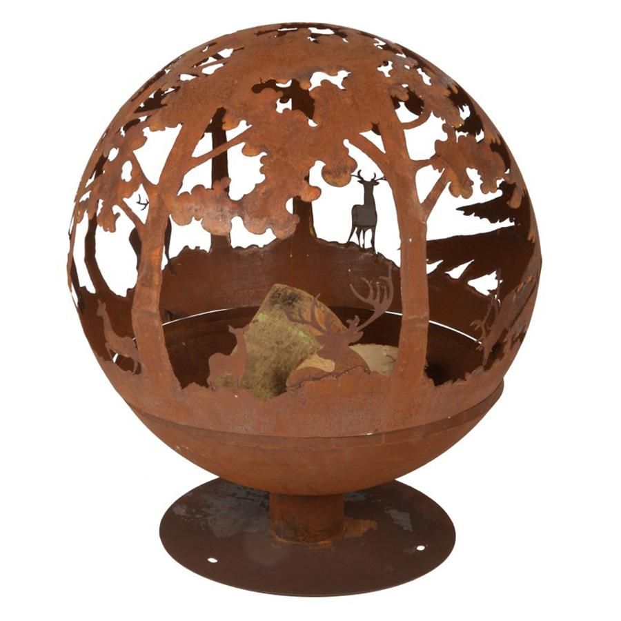 Rusty Red Woodland Fire Bowl Globe | Farthing