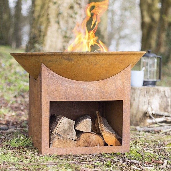 Rusty Windsor Fire Pit Brazier - The Farthing