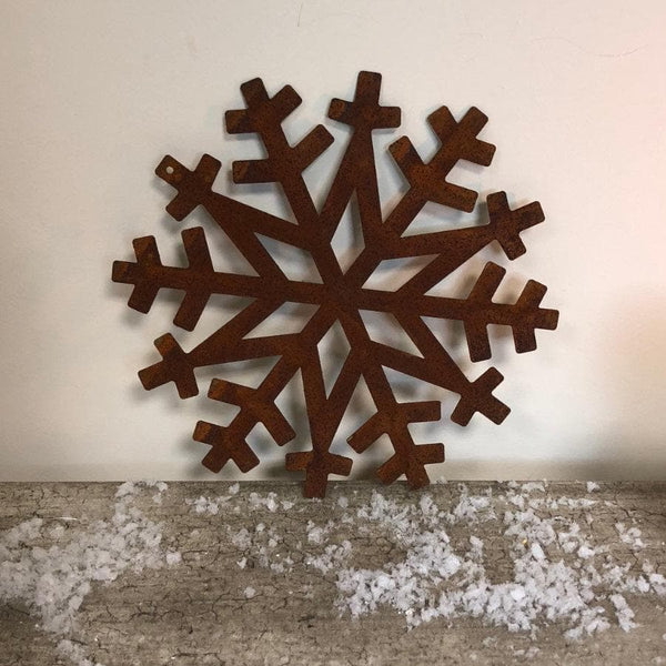 Rusty Metal Snowflake at the Farthing