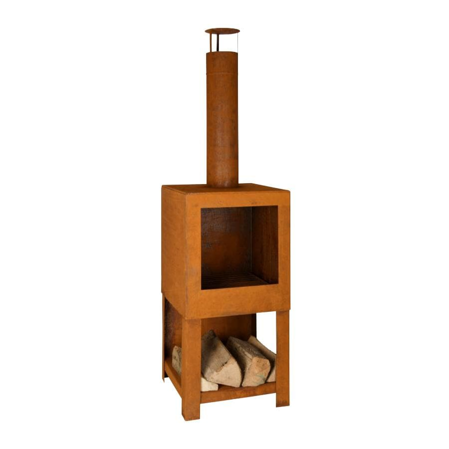 Rusty Steel Outdoor Heater - Square | The Farthing