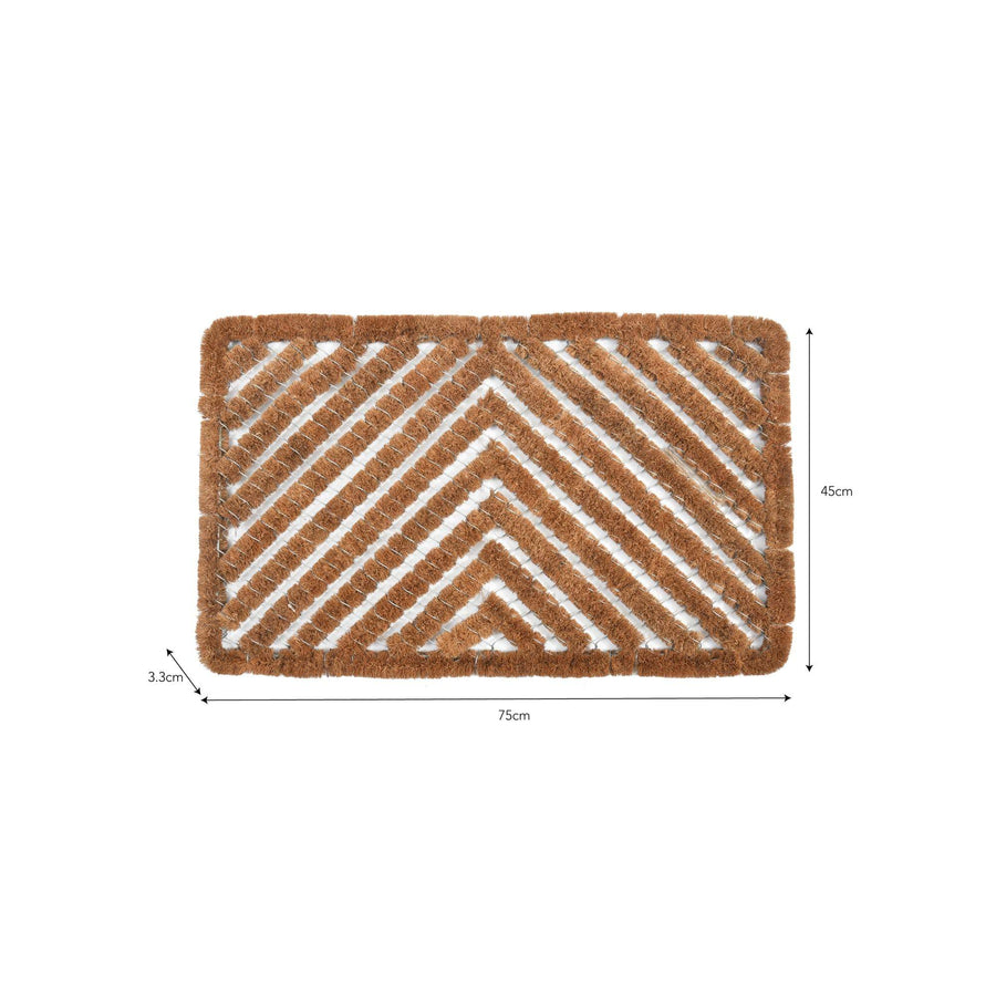 Shoe Scraper Doormat with Coir Bristles