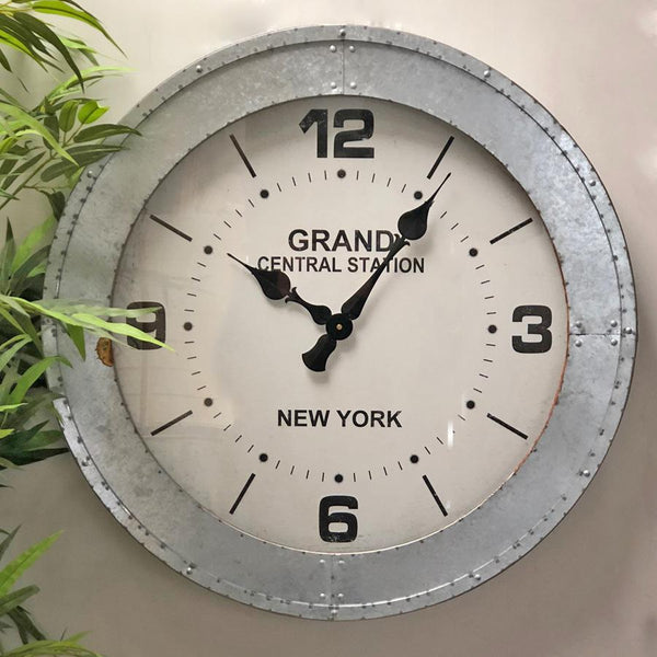Industrial New York Subway Clock | Farthing