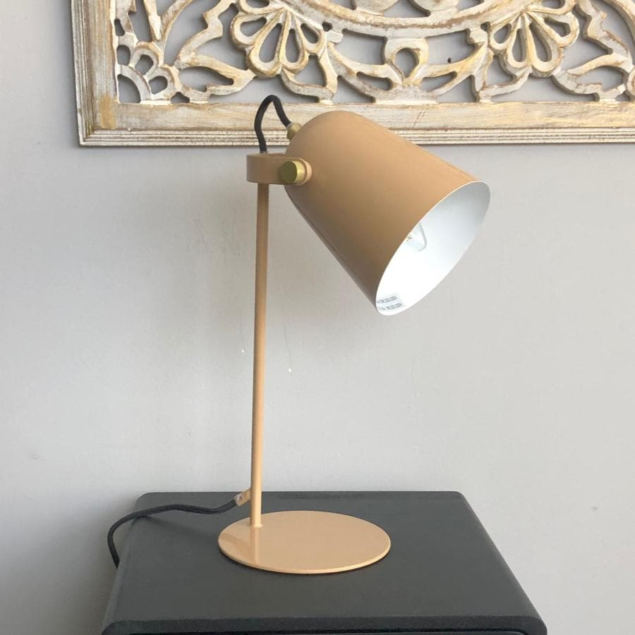 Sandbanks Angle Lamp - Taupe | The Farthing