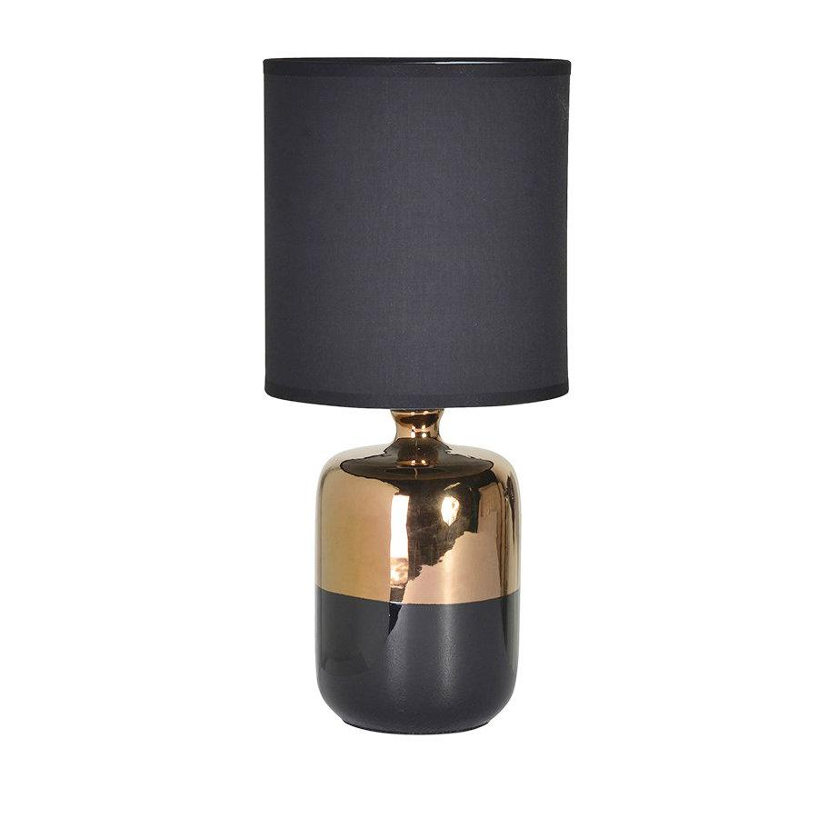 Sandcliffe Table Lamp & Shade - Black & Bronze | The Farthing