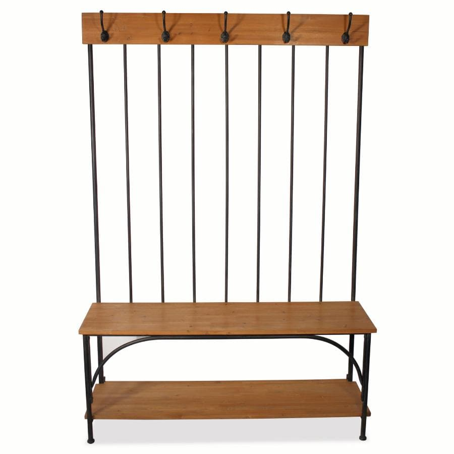 School House Standing Coat Rack Bench 9