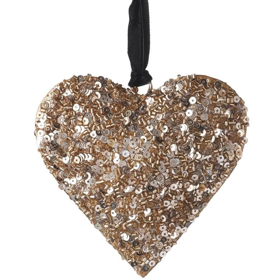 Sequin Hanging Copper Heart at the Farthing