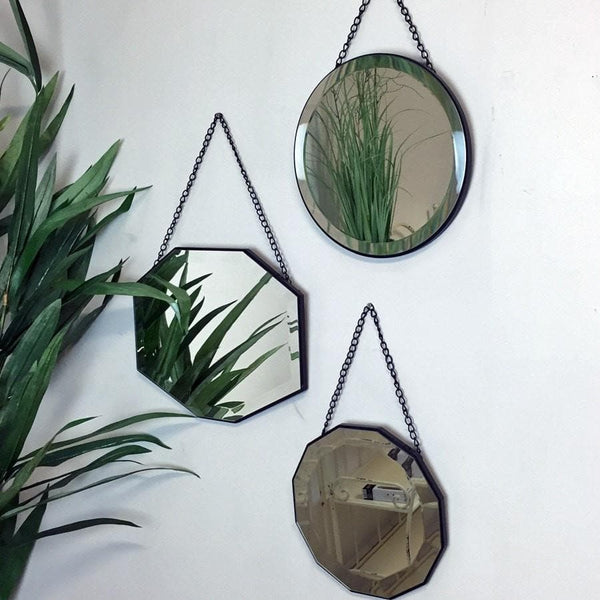 Set of Three Vintage Hanging Mirrors - The Farthing