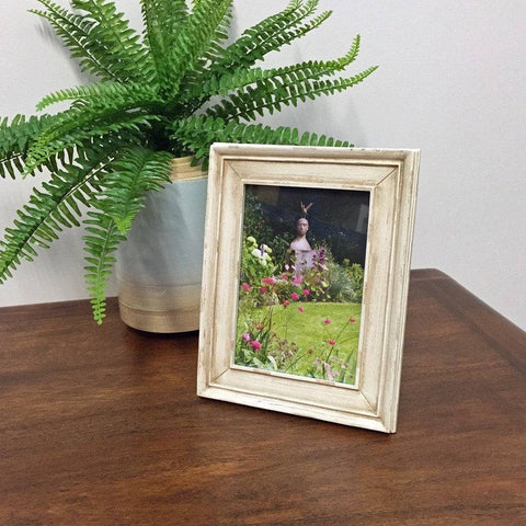 Shabby Chic White Rectangle Photo Frame - The Farthing