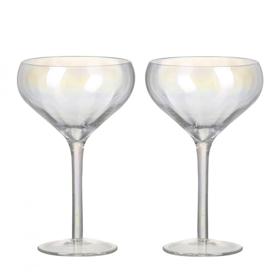 Shimmer Cocktail / Champagne Glass Set at the Farthing 1