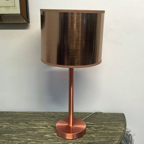 Shimmering Copper Hampton Table Lamp & Shade - The Farthing