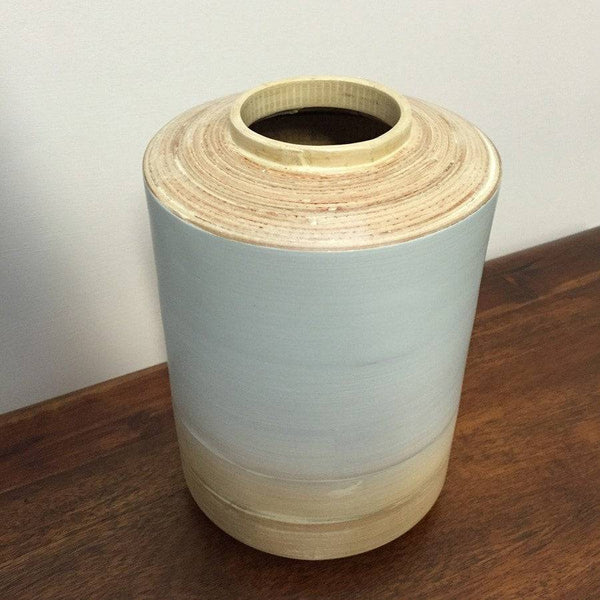 Sky Blue Bamboo Vase - The Farthing  - 1