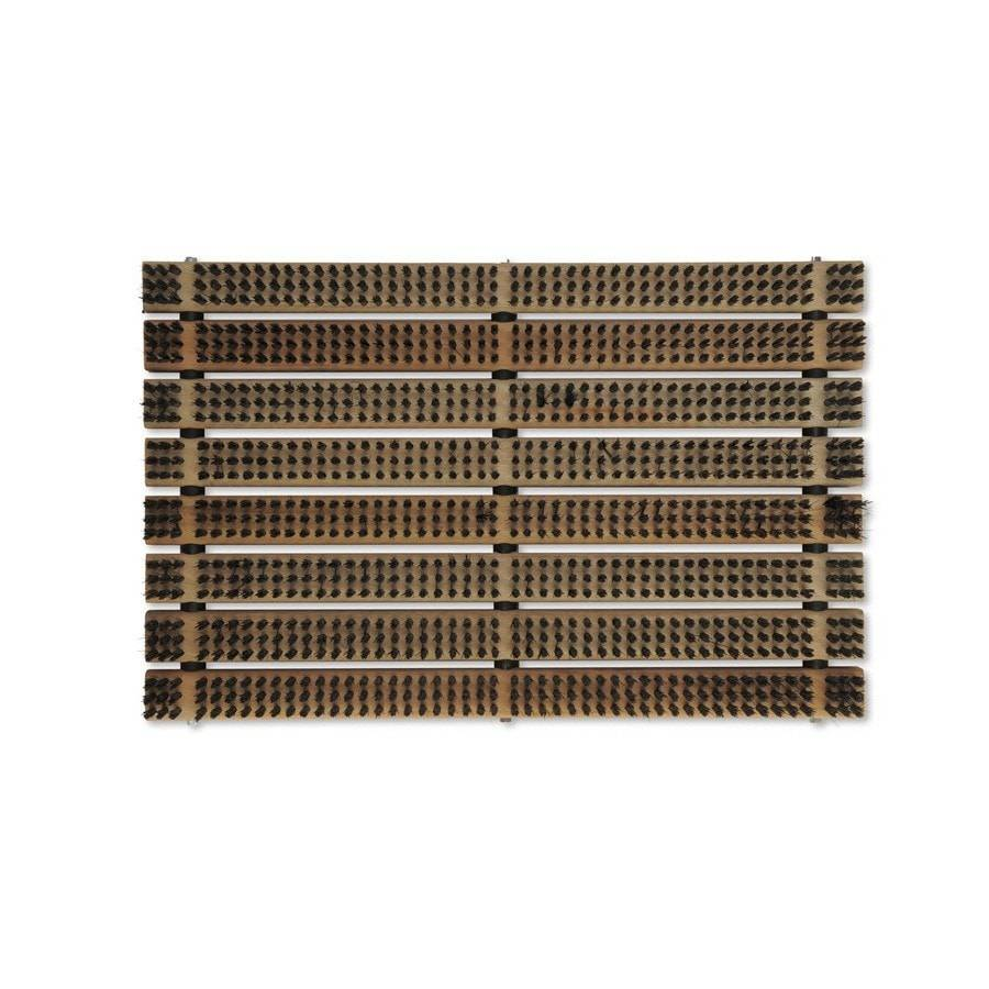 Slatted Doormat with Bristles - Wooden - The Farthing