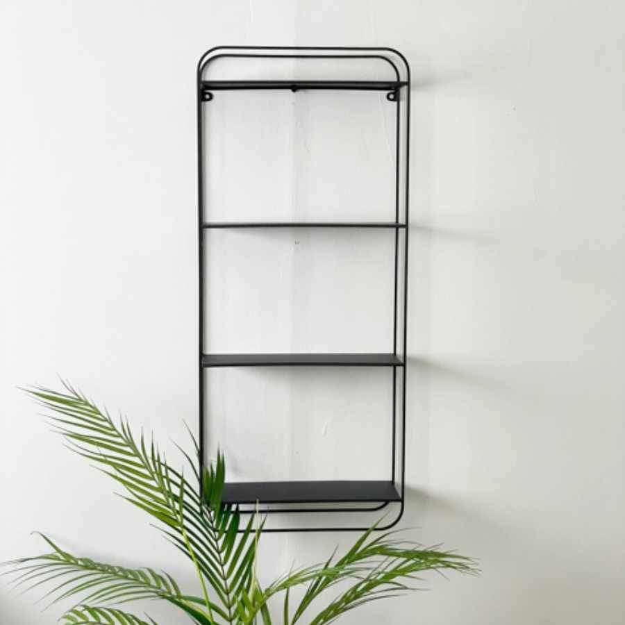 Slim Silhouette Black Metal Wall Shelves | Farthing