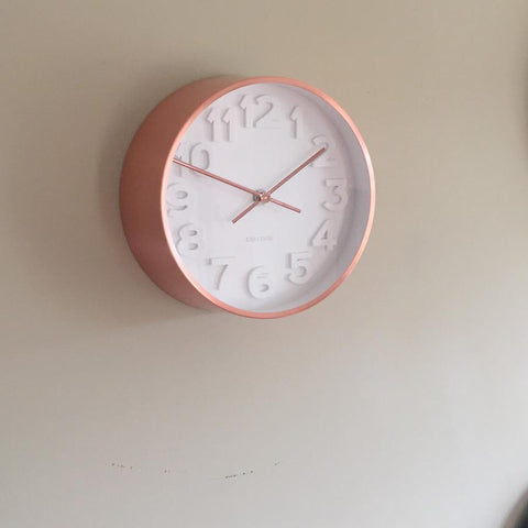 Small Copper Wall Clock | Farthing