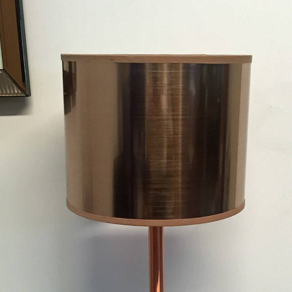 Small Drum Mia Mirrored Copper Cylinder Shade - The Farthing