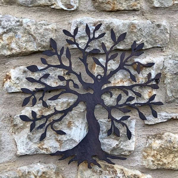 Small Rustic Metal Tree of Life Wall Art | Farthing