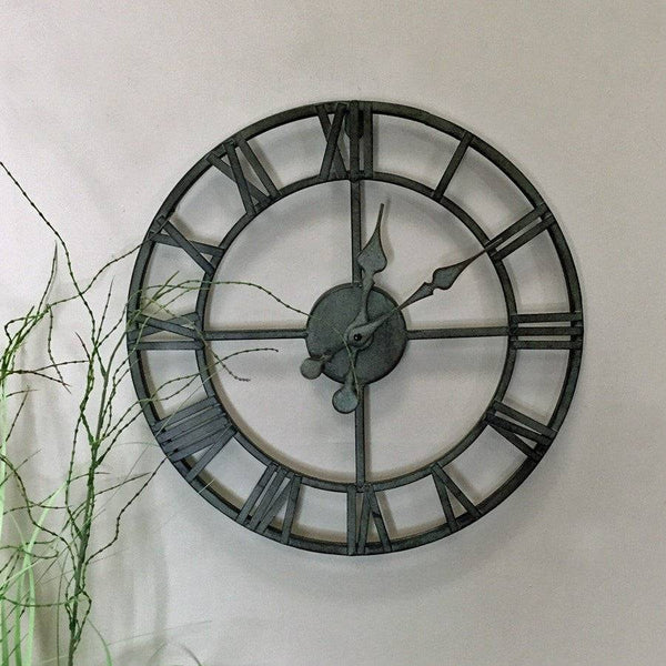 Small Rustic Skeleton Wall Clock - The Farthing