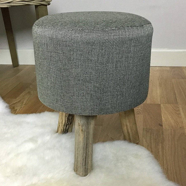 Small Rustic Stool - Grey | The Farthing
